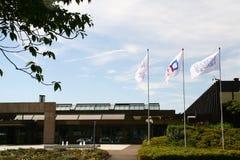 Diebold Nixdorf Company,帕德博恩,德国的总部 库存图片