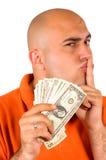 Diebstahl des Geldes Stockfotografie