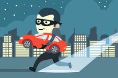 Diebstahl eines Autos Lizenzfreie Stockfotos