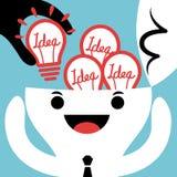 Diebstahl-oder Input-neue Ideenbirnen-Konzeptillustration Lizenzfreie Stockfotografie