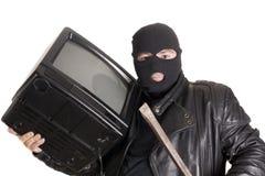Diebstahl von Fernsehapparat Lizenzfreie Stockfotos