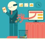 Diebstahl von Kreditkarte-Informationen Stockbilder