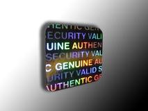 Diebstahlsicheres Sicherheit halogram Lizenzfreies Stockfoto