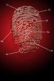 Diebstahlsicherheit Fingerabdruck   Lizenzfreie Stockfotos