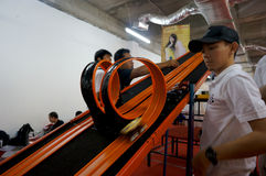 Diecast race Royalty Free Stock Photo