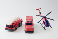 Diecast toy fire truck. Still life photography Royalty Free Stock Images