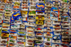 Diecast. Various diecast toys sold in a bazaar in the city of Solo, Central Java, Indonesia Royalty Free Stock Images