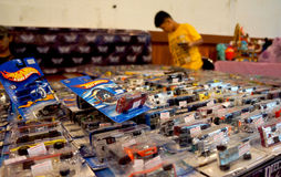 Diecast. Various diecast toys sold in a bazaar in the city of Solo, Central Java, Indonesia Royalty Free Stock Photos