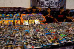 Diecast. Various diecast toys sold in a bazaar in the city of Solo, Central Java, Indonesia Royalty Free Stock Photo