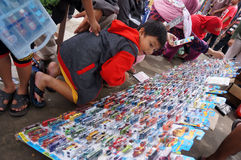 Diecast. Various Diecast toys sold in an open market in the city of Solo, Central Java, Indonesia Royalty Free Stock Image