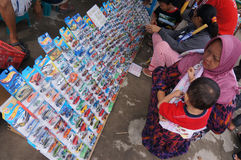 Diecast. Various Diecast toys sold in an open market in the city of Solo, Central Java, Indonesia Royalty Free Stock Photography