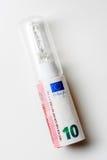 10 dieci dell'euro di forma del tubo in lampadina Immagini Stock Libere da Diritti