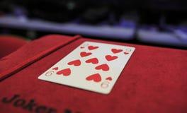 Dieci delle carte da gioco dei cuori Immagine Stock