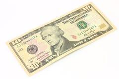 Dieci dollari Fotografie Stock