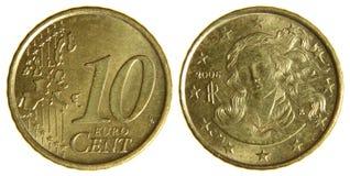 Dieci euro centesimi Immagine Stock Libera da Diritti