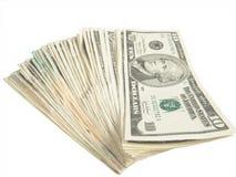 Dieci fatture del dollaro Fotografia Stock Libera da Diritti