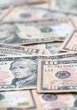 Dieci fatture del dollaro Fotografie Stock