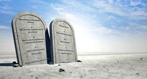 Dieci ordini che si levano in piedi nel deserto Fotografia Stock