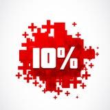 Dieci per cento fuori dal concetto Immagini Stock