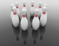 Dieci perni di bowling illustrazione di stock