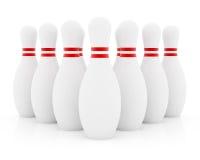 Dieci perni di bowling Fotografia Stock Libera da Diritti