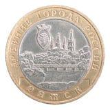 Dieci rubli di moneta Fotografia Stock