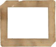 diecinueveavo Marco de papel del siglo - deteriorado y manchado Foto de archivo