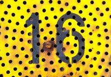 Dieciséis 16 Foto de archivo