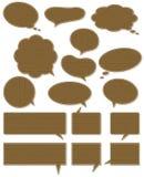Dieciséis escrituras de la etiqueta de madera, vector Foto de archivo libre de regalías