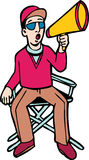 Diector on Chair. A director sits in his chair and calls out action royalty free illustration