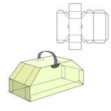 Diecut rzemiosła pudełko Obrazy Stock
