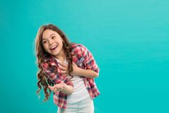 Almost died laughing. Humor and react funny story. Childhood and happiness concept. Kid with cheerful laughing face. Emotions concept. Sincere emotional child stock images