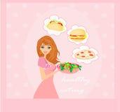 Dieet die verleiding eten Royalty-vrije Stock Afbeeldingen
