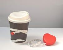 Dieet door koffie stock foto's