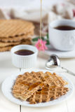 Dieet eigengemaakte wafels Royalty-vrije Stock Foto