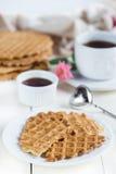 Dieet eigengemaakte wafels Stock Afbeelding