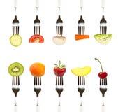 Dieet en gezond het eten concept stock foto's