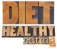 Dieet en het gezonde eten Stock Foto's