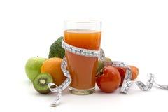Dieet en voedingssap Stock Foto