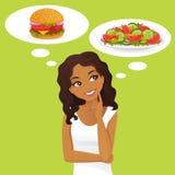 Dieet Gezond voedsel royalty-vrije illustratie