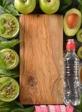 Dieet groene smoothies royalty-vrije stock fotografie