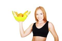 Dieet Het op dieet zijn concept Gezond voedsel Mooie Jonge Vrouw stock afbeeldingen