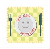 Dieet met lege plaatglimlach Stock Foto