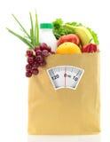Dieet met vruchten en groenten royalty-vrije stock foto's