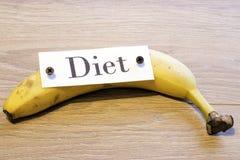 Dieet op banaan Stock Afbeelding