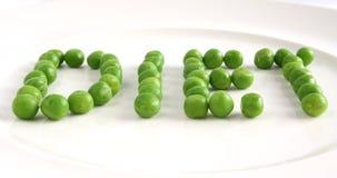 Dieet op een plaat van erwten Royalty-vrije Stock Fotografie