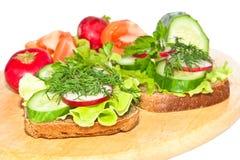 Dieet sandwiches. Stock Afbeelding