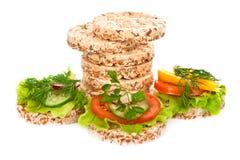 Dieet sandwiches. Royalty-vrije Stock Afbeelding