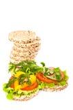 Dieet sandwiches. Stock Foto
