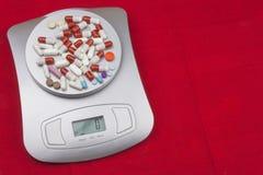 Dieet supplementen Voedselatleten Anabole steroïden in sporten Dosering van drugs voor gewichtsverlies Farmaceutische Industrie Royalty-vrije Stock Fotografie